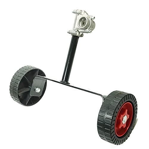 LUCKYHH Ruedas de apoyo ajustables para ruedas auxiliares, accesorio de cabeza recortadora, aju...