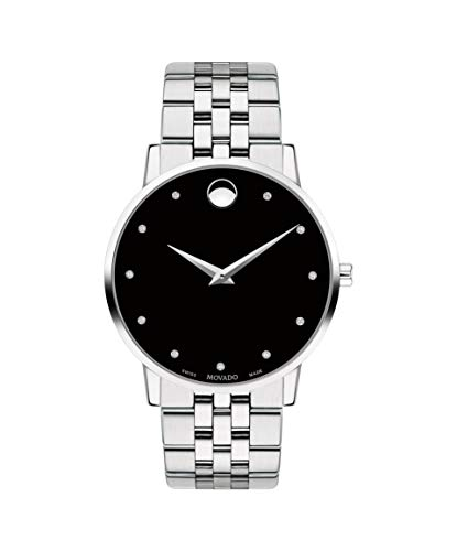 Movado Museum Classic, Stainless Steel Case, Black Dial, Stainless Steel Bracelet, Men, 0607201