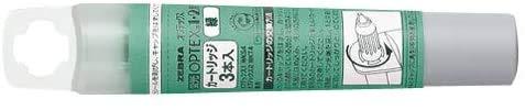 ゼブラ オプテックス用カートリッジ(3本入) 緑 RWK8-G 【× 20 パック 】