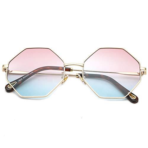MNGF&GC Nuevas gafas de metal irregulares con montura de los hombres. Gafas de sol octogonales femeninas.