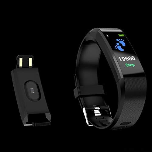 Lorenlli Bluetooth Smart Band Pantalla a Color Frecuencia cardíaca Monitor de presión Arterial Podómetro Pulsera Fitness Smartband para iOS Ajuste Android