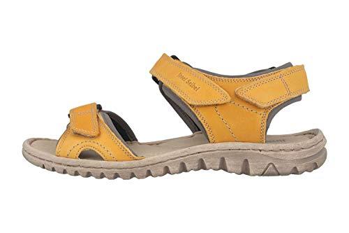 Josef Seibel Damen Sandalen Lucia 15, Frauen Trekking Sandalen, Outdoor-Sandale Sport-Sandale sommerschuh weibliche Lady,Safran-Kombi,42 EU / 8 UK