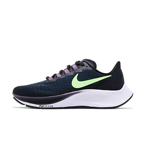 Nike WMNS Air Zoom Pegasus 37 Track Shoe, 4 UK, Nero (Verde fantasma nero), 42.5 EU