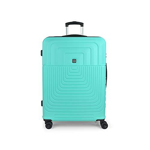 Gabol - Ego | Maleta de Viaje Grande Dura de 54 x 76 x 29 cm con Capacidad para 100 L de Color Turquesa