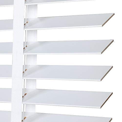 WENZHE Estores De Bambú Venecianas Persianas Estor Enrollable Blanco Madera Maciza Regulable Levantable Casa Oficina Quitasol, Tamaño Personalizable (Color : 35mm, Tamaño : 50x100cm)