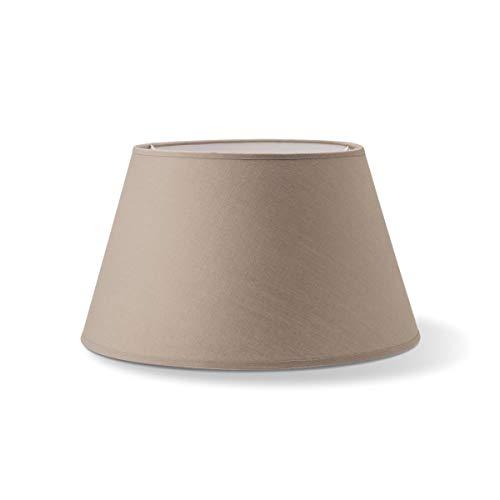 Largo Abat-jour rond en textile   Abat-jour conique   Culot E27   Diamètre 30 cm Hauteur 17 cm   Beige   Convient pour tous les intérieurs IP20   Convient pour lampe LED