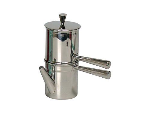 Ilsa Napoletana Kaffeemaschine, Edelstahl, Silber, für 1-2 Tassen