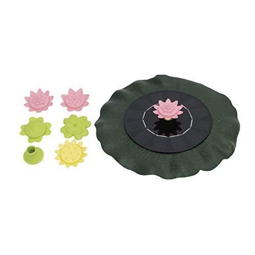 HSD Fuente solar de imitación Sun Flower para jardín, piscina, estanque, bomba...