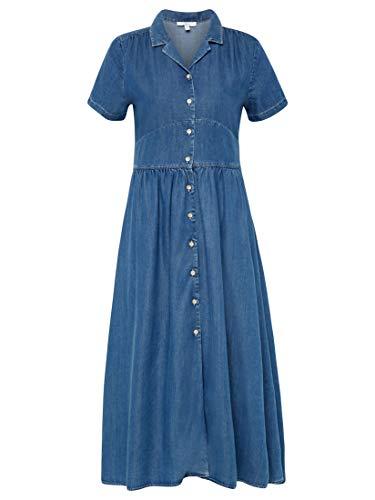 Mavi Damen Dress Kleid, Blau (Denim 18790), Large (Herstellergröße: L/)