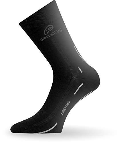 Lasting Herren Trekking Merino WLS Socke, Schwarz, m