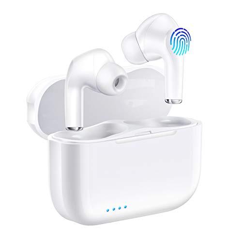 Bluetooth Kopfhörer In Ear, Wireless Noise Cancelling Stereo Kopfhörer Bluetooth 5.0 Headset Mikrofon und Typ-C Schnellladen, IPX6 Waterproof, Ladekoffer Touch-Control mit Tragbare Ladekästchen
