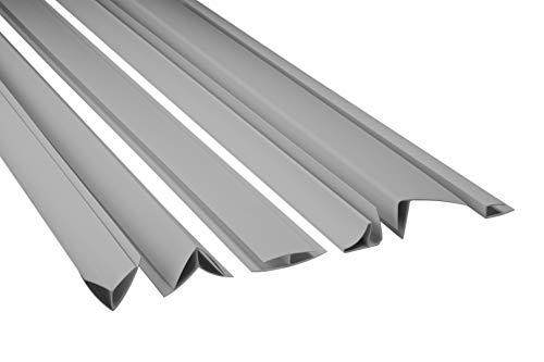 Zubehör für PVC Paneele Bretter Platten Wandverkleidung PP10-10, PP16-10 grau, Modell:PPA - Außenecke