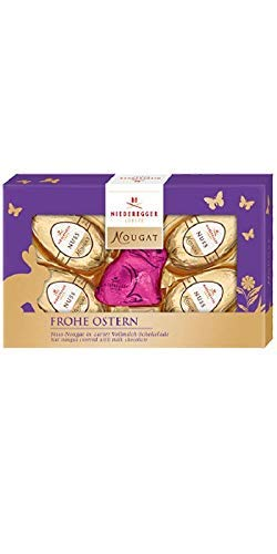 Creamy Nut Nougat Filled Easter Eggs & Rabbit Pralines Covered In A Whole Milk Chocolate In A Noble Easter Gift Package   85 g   Niederegger   Germany