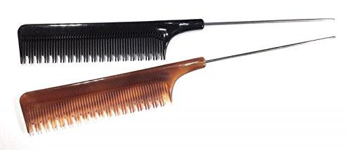 niavida aiguille manche peigne peigne de peigne à Crêper coulissantes au choix crêper Marron Noir