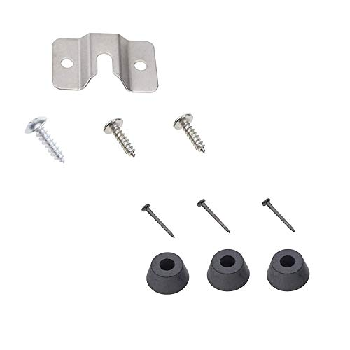 TenCloud 10 Packs Wall Steel Bracket and Screws Hardware Kit Replacement for Mounting Dartboard