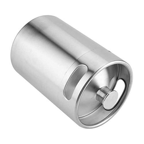 Edelstahl 5L / 4L / 3.6L / 2L Mini Bier unter Druck tragbare Bierflasche Bierbrauen Bierherstellung Werkzeug (5L)