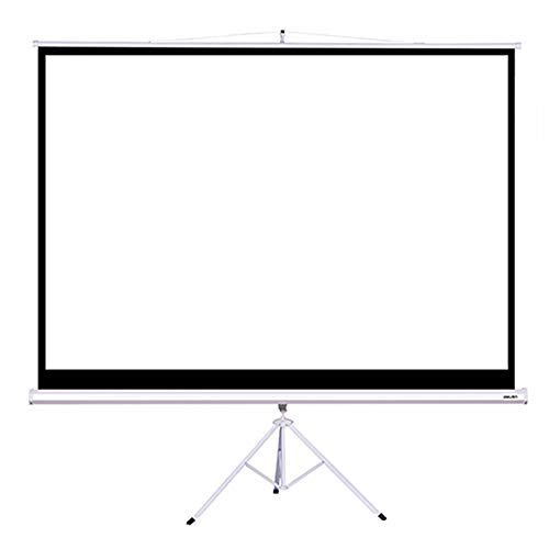 RISHIL WORLD Deli 50491 100 Inch 4:3 Projector Screen With Projector Bracket compatible compatible for Home Office
