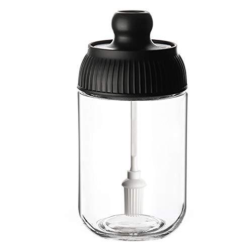 Kruidenpotje, keukenglas kruidenpotje, zout/MSG verzegelde vochtwerende potje kruidendoosje, kruidenflesje olieborstel honingpotje