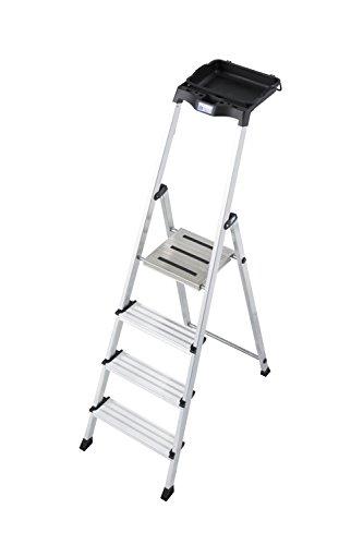 KRAUSE Stehleiter Secury mit Multigrip System, 4 Stufen, 126528