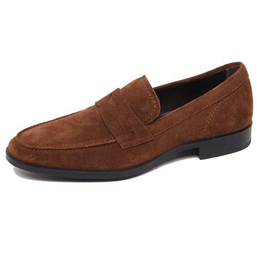 F0306 Mocassino Uomo Brown Tod'S Scarpe Suede Loafer Shoe Man [6]