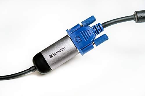 Verbatim USB-C auf VGA Adapter - Für den Anschluss von USB-C- Laptops und MacBooks an VGA-Displays, inkl. 10 cm USB-C-Kabel