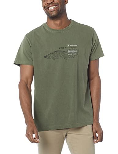 Camiseta, Stone Pirarucu Life Eco,Osklen,masculino,Verde Amazonia,M