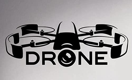 Adesivo da parete murale Air Drone Spy Wall Vinyl Decal, Quadcopter Fashion Sticker, Wallpaper Aircraft Art Decor, Poster rimovibile per la camera dei bambini 120x45cm