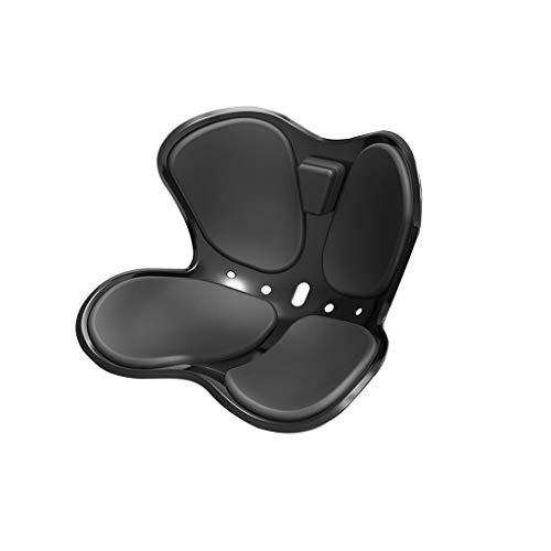 ZRJ Cojín de asiento y cojín de apoyo lumbar, cojín de oficina, cojín de coxis, cojín de casa, silla o coche (color: negro)