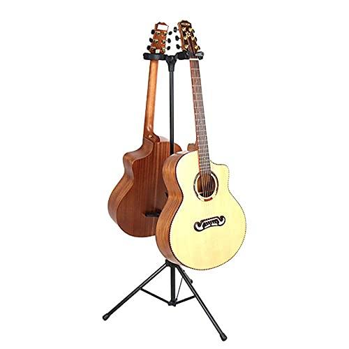Gitaarstandaard Akoestische gitaar, elektrische gitaar Bas 2 standaard Gitaarstandaard Verstelbare kaders voor akoestische gitaar Elektrische bas