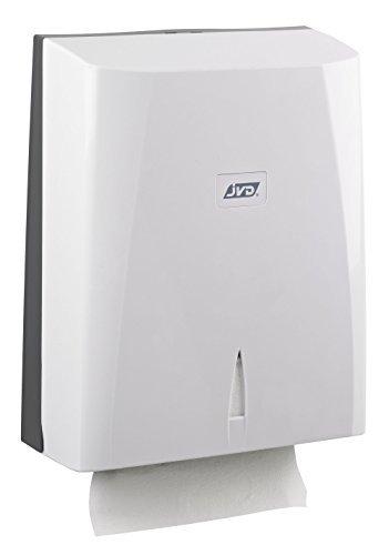 JVD YALISS Zig-Zag 899880 - Dispensador de toallas de mano (plástico ABS), color blanco