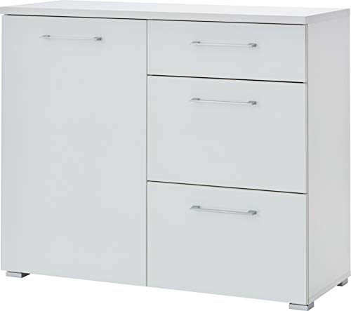Germania Kommode 3886-84 mit Glasfronten | In Weiss | 97 x 82 x 40 cm