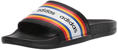 adidas Damen Adilette Comfort Sandalen zum Reinschlüpfen, Schwarz/Schwarz/Aktiv Gold, 37 EU