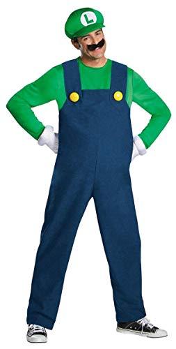 Super Mario Bros Herren Super Mario Brothers Adult Deluxe Costumes, Luigi, L