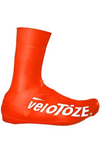 veloToze Couvre-chaussures haut 2.0 – pour une utilisation avec des chaussures de vélo de route.