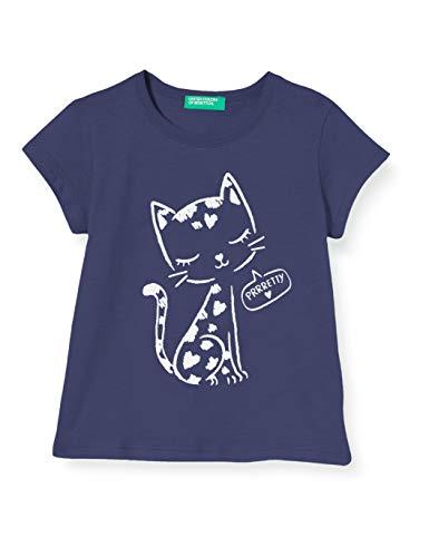 UNITED COLORS OF BENETTON T- Shirt Pull sans Manche, Bleu (Peacoat 252), 80/86 (Taille Fabricant: 1Y) Bébé Fille