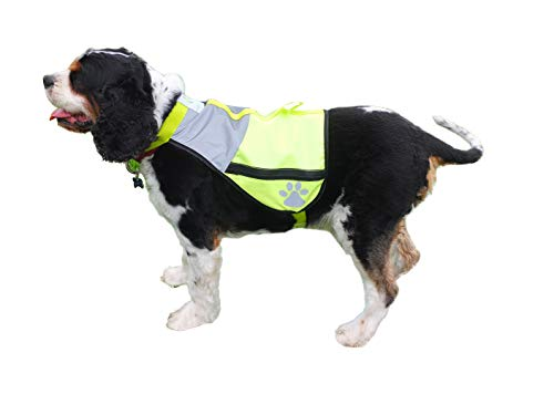 FIREFLY BUDDY Great Reflective Dog Vest with Pockets. Best Safety Gear for...