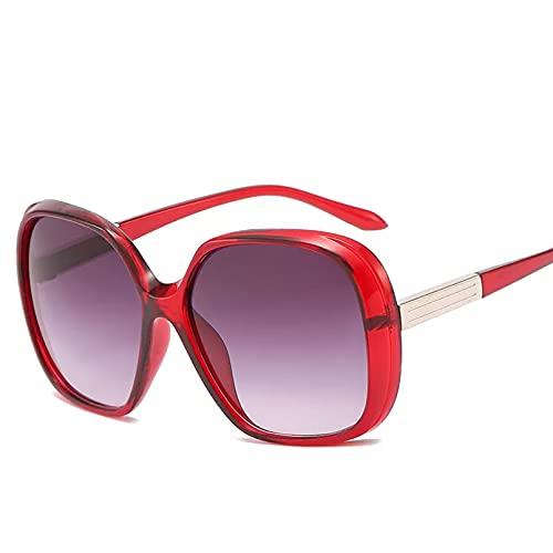 YTYASO Gafas de Sol con Montura Grande de Moda Gafas de Sol de Viaje con Lente degradada para Mujer UV400 Multicolor