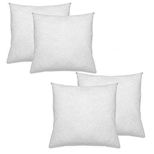 IZO All Supply Square Sham Stuffer Throw Pillow Insert, White, 18 by 18 Inches, Pack of 4