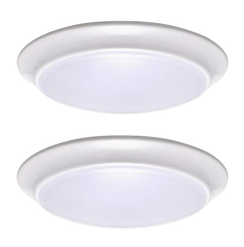 LIT-PaTH LED Flush Mount Ceiling Lighting Fixture, Dimmable 7 Inch 11.5W 900...