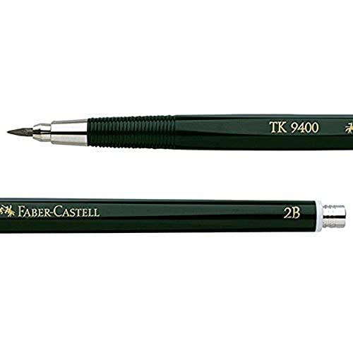 Faber-Castell 139402 - Fallminenstift TK 9400, Minenstärke: 2 mm, Härtegrad: 2B, Schaftfarbe: grün