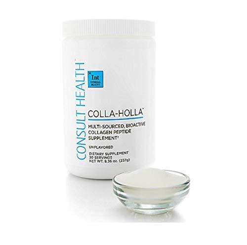 Consult Health Colla-Holla Collagen Peptide Supplement Natural Raspberry Flavor