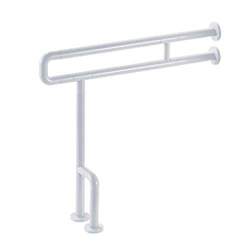 mjb Badezimmer-Handläufe, U-förmig, verstärkter Toilettengriff, rutschfest, Sicherheitshalterung, behindertengerechte Stützstange, 75 cm weiß