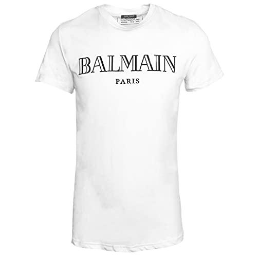 T Shirt Balmain Blanc Avec imprimé Noir
