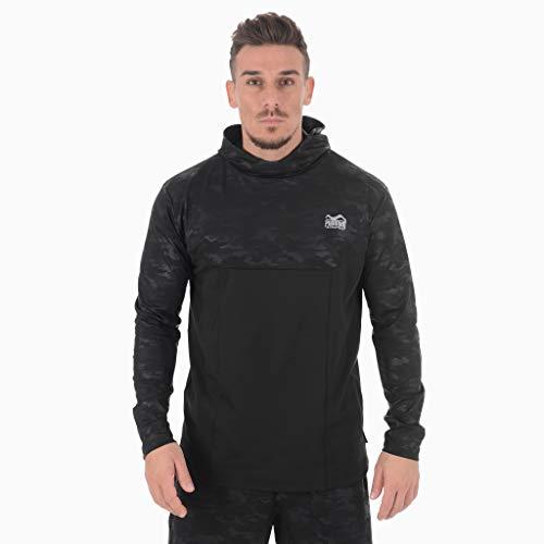 Phantom Hoodie Shadow | Trainingssweater für Sport, Fitness, Workout Training | Lockerer Performance Schnitt mit Camo Print (Schwarz Camo, Large)
