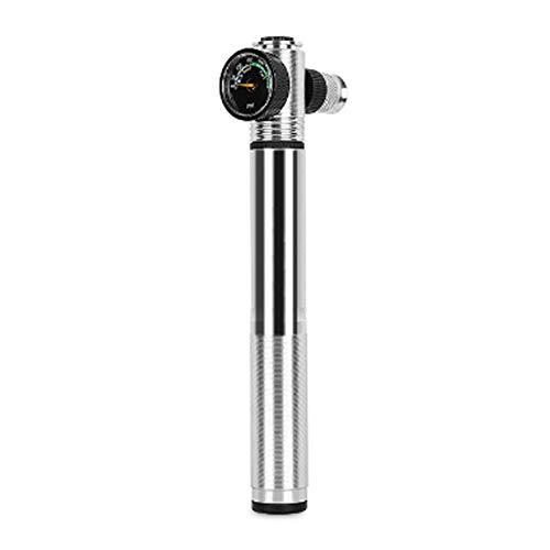 CfoPiryx Mini Bike Pump with Gauge Ball Needle, 300 PSI Hand Pump,Telescopic Mini Bicycle Tyre Pump for Road, Mountain Bikes