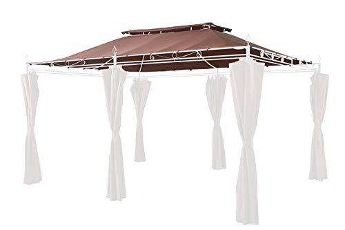 GRASEKAMP Qualität seit 1972 48129 GRASEKAMP Quality Since 1972 Replacement Garden Gazebo Inca 3x4 Mocha Party Tent Patio Roof, Brown, L x B 400 x 300 cm