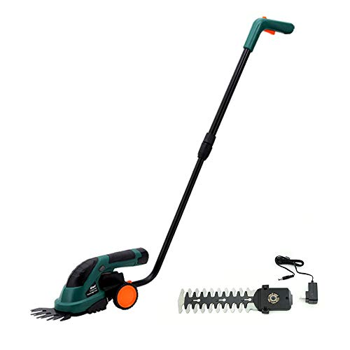Review Lawn Hedge Trimmer 2-in-1 Cordless Grass Shear and Shrubbery Trimmer (Color : Black)