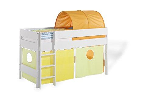 Geuther Kindermöbel 1391 355 GE/GR Vorhang-Set 2-teilig für Längsseite, gelb/grün/mehrfarbig
