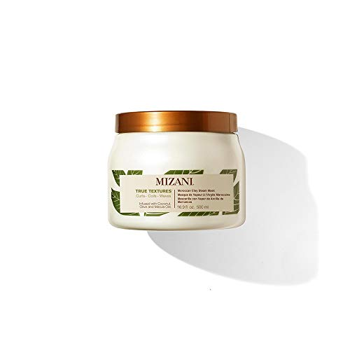 MIZANI True Textures Moroccan Clay Steam Mask | Deeply Conditions & Nourishes | with Coconut Oil | for Curly Hair | 16.9...