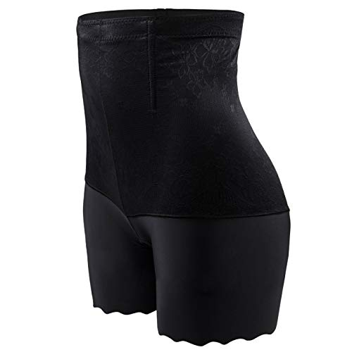 SURE YOU LIKE Damen Figurenformend Miederpants Miederhose Shapewear Bauch Kontrolle Unterwäsche Body Shape Nahtlose Boyshort, Gr.-Tag 4XL/EU(42-46) , Schwarz